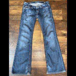 Big Star Sweet Low Boot Cut Jeans sz 27 R